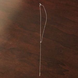 Express silver lariat necklace